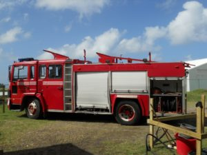 Local fire engine helps clean the facility